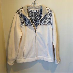 L.L. Bean Full Zip Fleece Nordic Snowflake Jacket